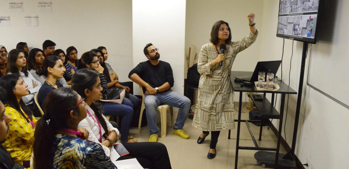 Talk Session with an industry expert for Interior Design Department