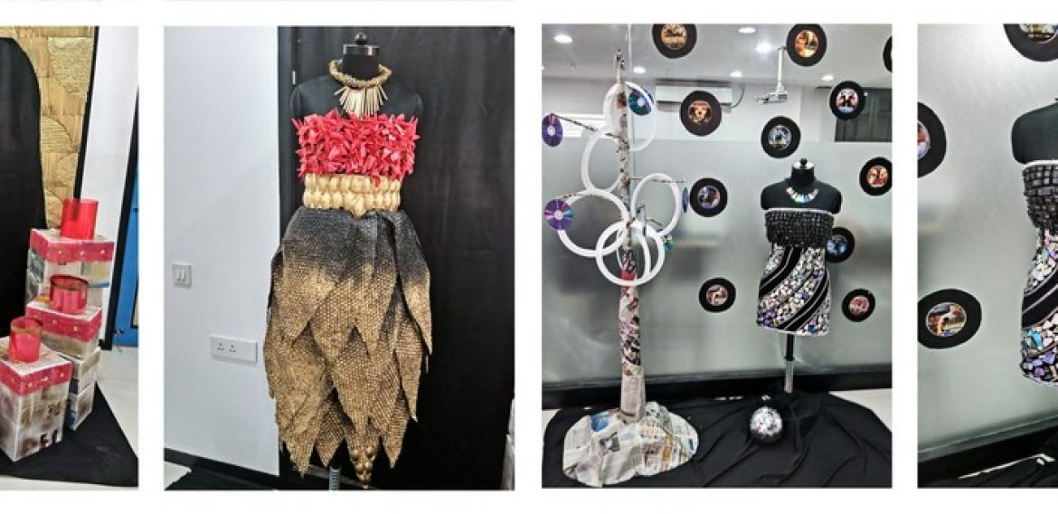 Installations based on Art out of Waste by ADFD 2015 Batch