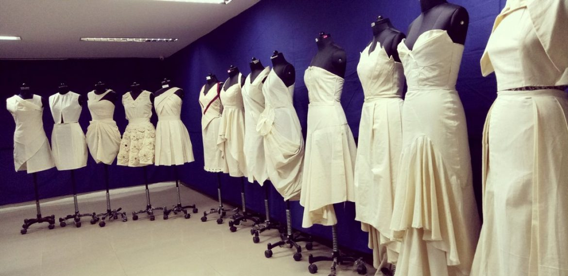 Display of Fabric Draping – Diploma Batch