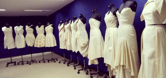 Display of Fabric Draping – Diploma Batch
