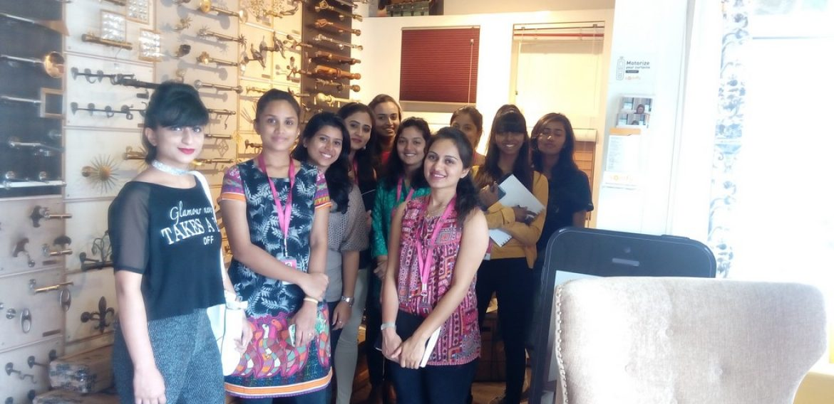 Floating Walls Store Visit – Batch of Diploma in Interior Design