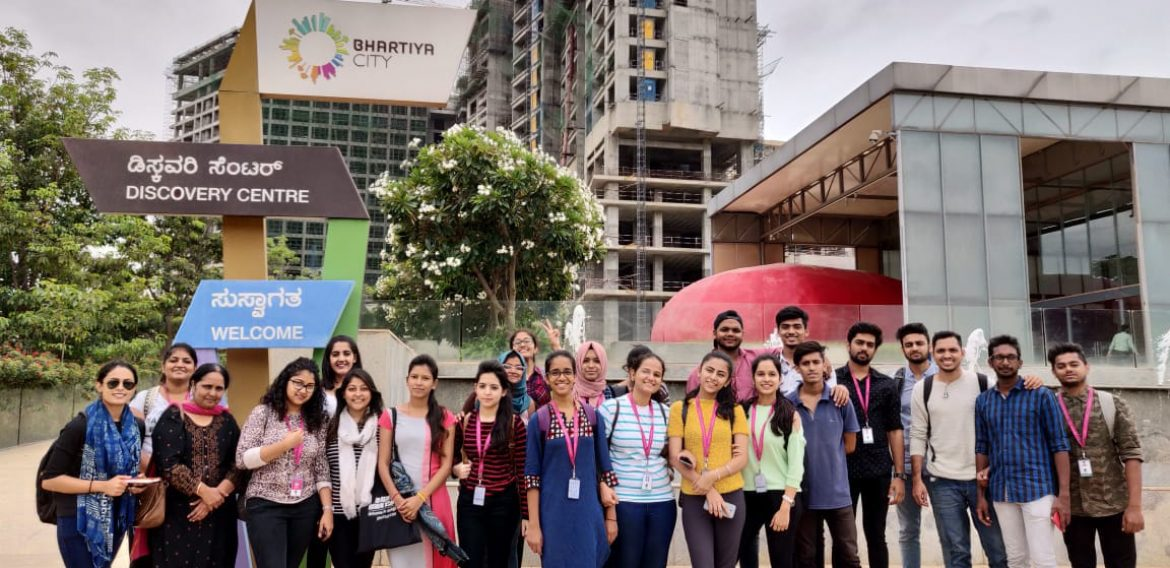 JD Institute – Interior Students at Bhartiya City | Industrial Visit