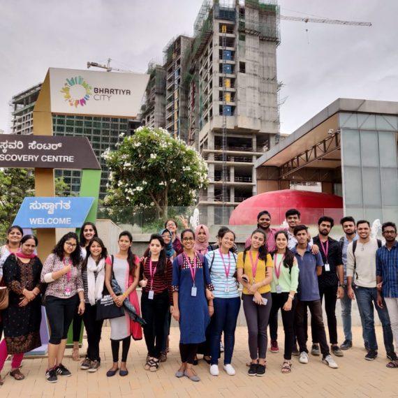 JD Institute – Interior Students at Bhartiya City   Industrial Visit