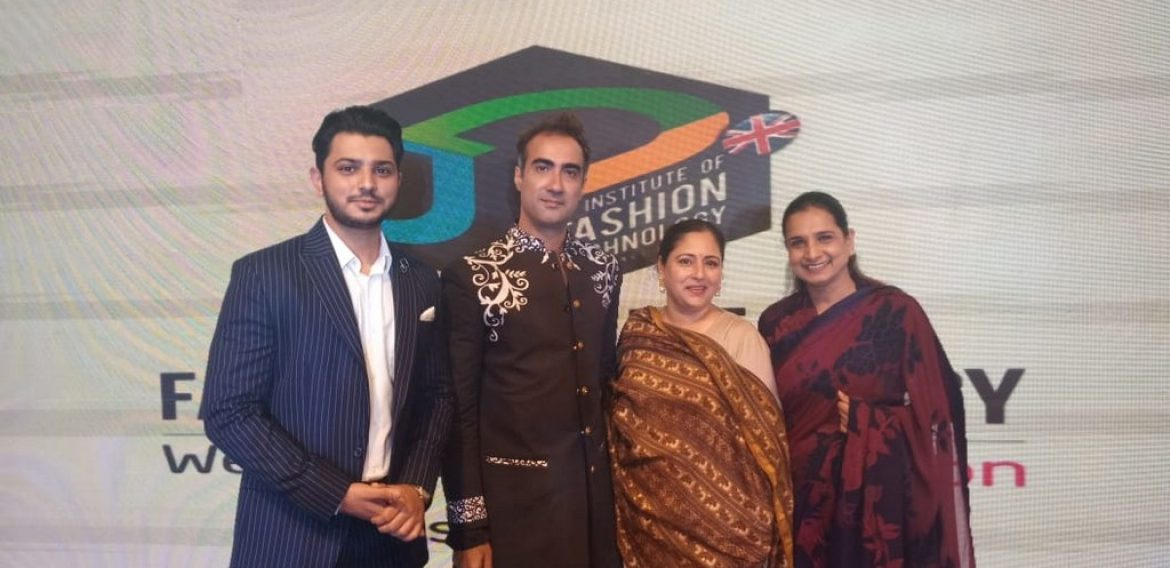 Students of JD Institute of Fashion Technology have designed for the Bollywood Actor Ranvir Shorey