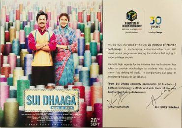Team Sui Dhaga earnestly appreciates JD Institute