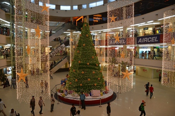 Bangalore is lit with Christmas